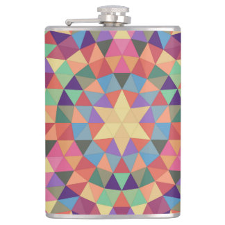 Triangle mandala 1 hip flask
