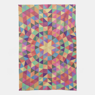 Triangle mandala 1 tea towel