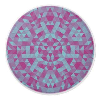 Triangle mandala 2 ceramic knob