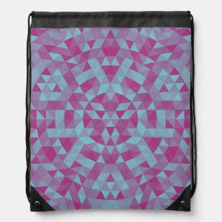 Triangle mandala 2 drawstring bag
