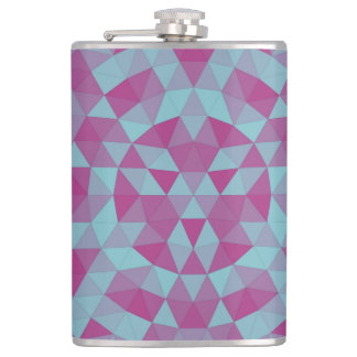 Triangle mandala 2 hip flask