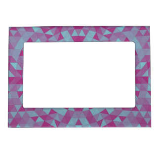 Triangle mandala 2 photo frame magnets