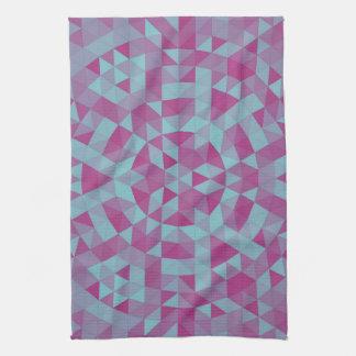 Triangle mandala 2 tea towel