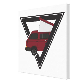 triangle maroon bus canvas print