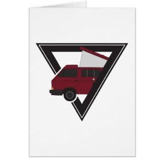 triangle maroon bus card