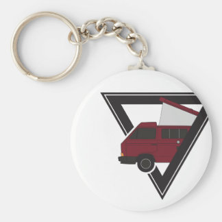 triangle maroon bus key ring