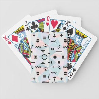 Triangle memphis symbol pattern playing card bicycle playing cards
