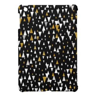 Triangle Modern Art - Black Gold Case For The iPad Mini