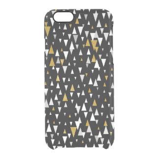 Triangle Modern Art - Black Gold Clear iPhone 6/6S Case