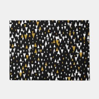 Triangle Modern Art - Black Gold Doormat