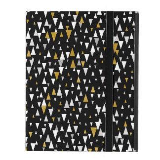 Triangle Modern Art - Black Gold iPad Case