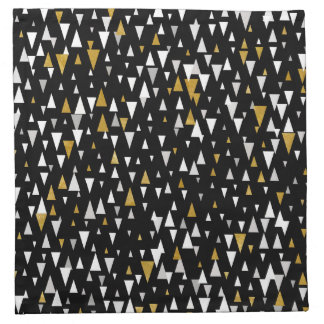 Triangle Modern Art - Black Gold Napkin