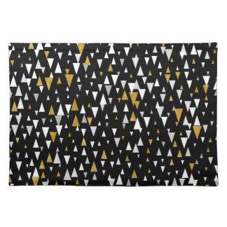 Triangle Modern Art - Black Gold Placemat