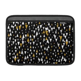 Triangle Modern Art - Black Gold Sleeve For MacBook Air