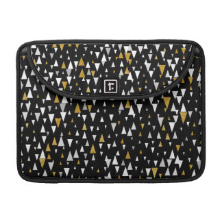 Triangle Modern Art - Black Gold Sleeve For MacBooks