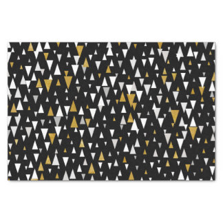 Triangle Modern Art - Black Gold Tissue Paper