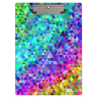 Triangle mosaic rainbow clipboard
