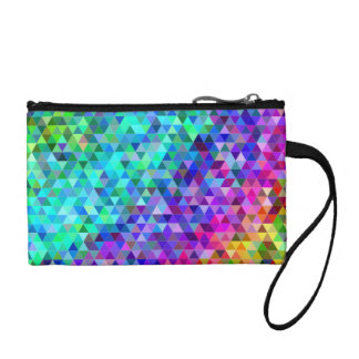 Triangle mosaic rainbow coin purse
