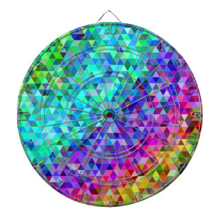 Triangle mosaic rainbow dartboard