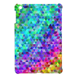 Triangle mosaic rainbow iPad mini covers