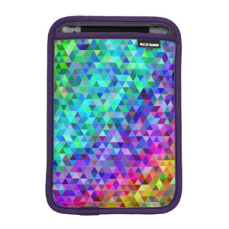Triangle mosaic rainbow iPad mini sleeve