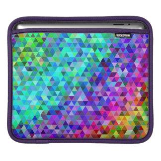 Triangle mosaic rainbow iPad sleeve