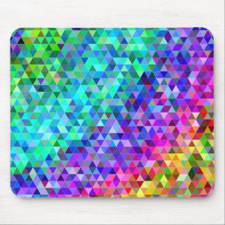 Triangle mosaic rainbow mouse pad