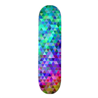 Triangle mosaic rainbow skate board decks