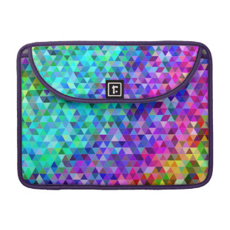 Triangle mosaic rainbow sleeve for MacBooks