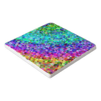 Triangle mosaic rainbow trivet