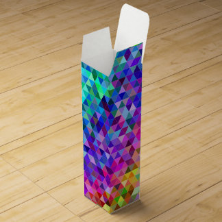 Triangle mosaic rainbow wine box