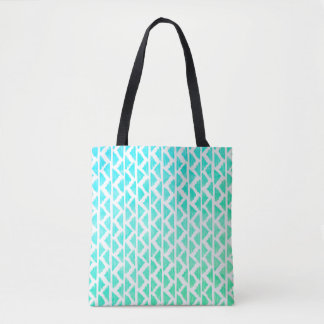 Triangle patterend tote bag