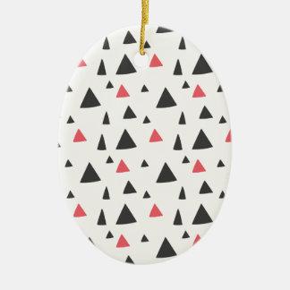 Triangle Pattern Ceramic Oval Decoration