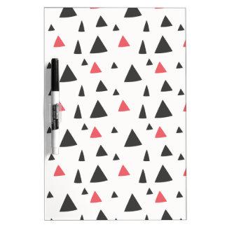 Triangle Pattern Dry Erase Board