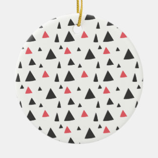 Triangle Pattern Round Ceramic Decoration