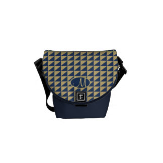 Triangle Pattern with Monogram Courier Bags