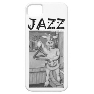 Triangle Playing Jazz Cow iPhone 5 Cover