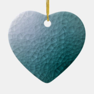 Triangle polygonal pattern ceramic heart decoration