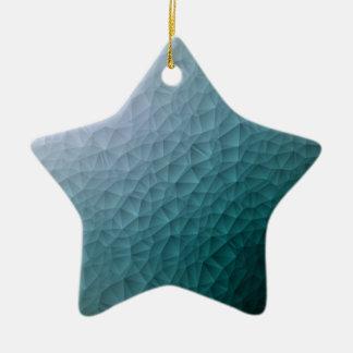 Triangle polygonal pattern ceramic star decoration