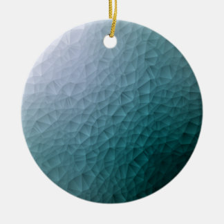 Triangle polygonal pattern round ceramic decoration