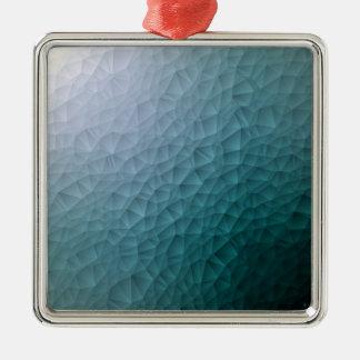 Triangle polygonal pattern Silver-Colored square decoration