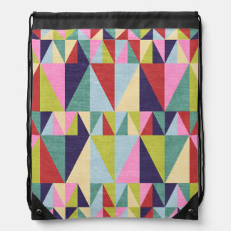 Triangle Pop Art Drawstring Backpack