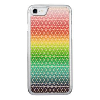 Triangle Rainbow Geometric Framework Tessellation Carved iPhone 7 Case