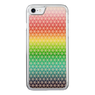 Triangle Rainbow Geometric Framework Tessellation Carved iPhone 8/7 Case