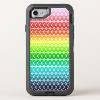 Triangle Rainbow Geometric Framework Tessellation OtterBox Defender iPhone 7 Case