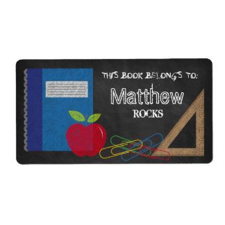 Triangle Set Square Book Apple Paper Clips Shipping Label