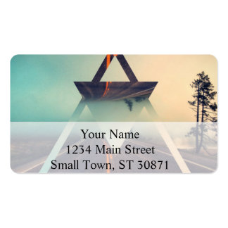 Triangle Shape Background Bright Pyramid Design Double-Sided Standard Business Cards (Pack Of 100)