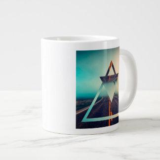 Triangle Shape Background Bright Pyramid Design Jumbo Mug