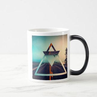 Triangle Shape Background Bright Pyramid Design Morphing Mug