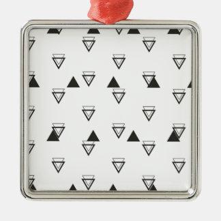 triangle Silver-Colored square decoration